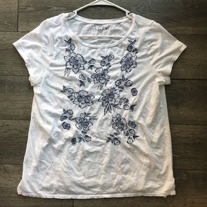 Ann Taylor LOFT floral t-shirt